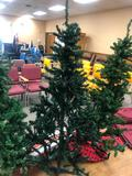 Artificial Christmas Tree, Approx. 5ft on Stand Pre-Lit w/ Strand of Lights