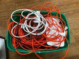 Tub Full of Electrical Cords and Power Strips