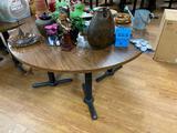 Laminate Top Restaurant Table w/ Pedestal Bases, 72in Diameter