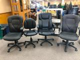 Lot of 4 Office Chairs, 2 Match