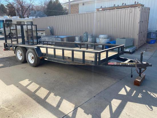 Carry-On Heavy Duty Tandem Axle Utility Trailer 18ft x 7ft - 5,200lb Capacity