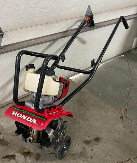 Honda Mini Tiller 9in. Tilling Width, 25cc Honda GX25 Engine, Model#FG110