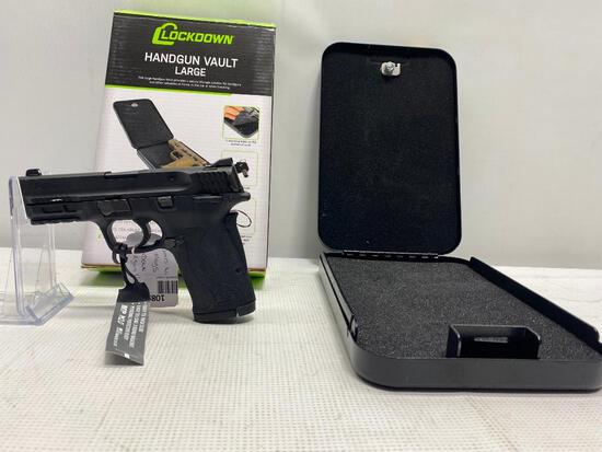 Smith & Wesson M&P 380 Shield EZ .380 Auto 8 Round Mag & Lockdown Handgun Vault