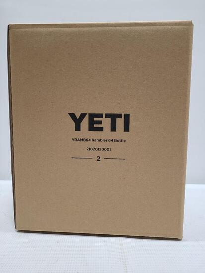 (2) YETI Rambler 64 oz Stainless Steel Bottles
