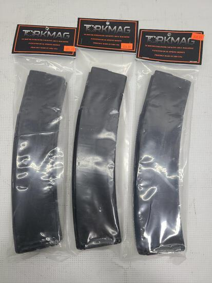 (3) Torkmag 50 Round Enhanced Capacity AR15 Magazines 5.56 x 45mm