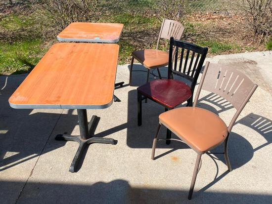 Two Restaurant Tables, Three Chairs, One Price for All