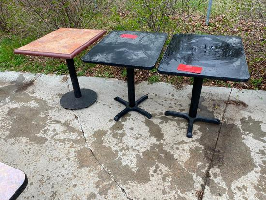 Lot of 3 Restaurant Tables, 24in x 30in