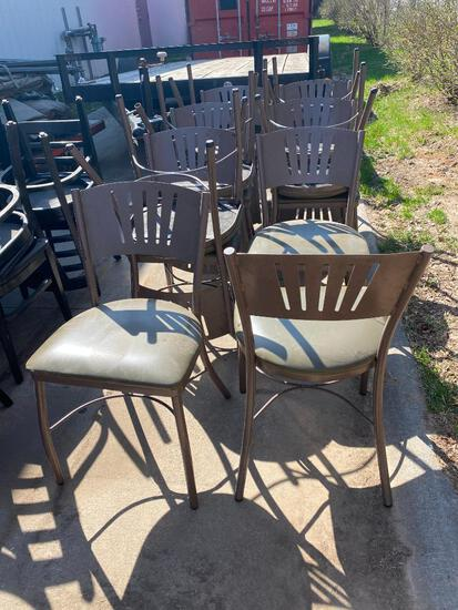 Lot of 13 Benchmark M-2170 HD Steel Framed, Polyurethane Cushion Restaurant Chairs