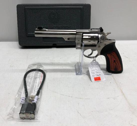 Ruger GP100 .22LR Revolver, 5.5in Barrel, Stainless, SN: 178-91851,MSRP:$729.99