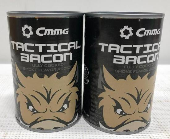 2 Items CMMG Tactical Bacon Cans Fully Cooked Smoke Flavor Added