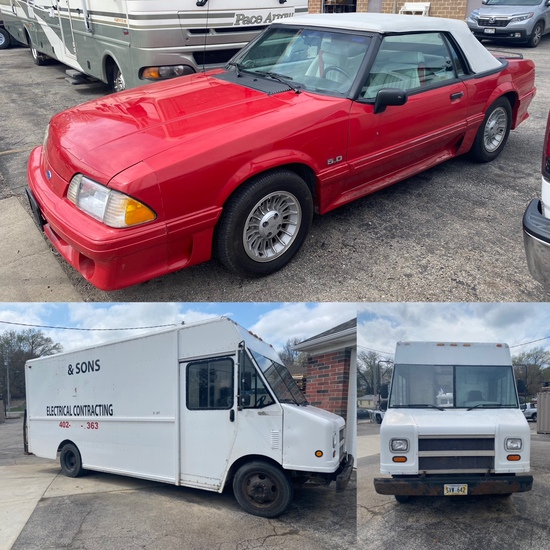 Mustang Convertible, Chevy Utilimaster Bread Truck
