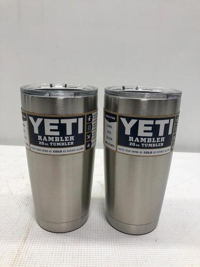 (2) YETI Rambler 20 oz Tumblers