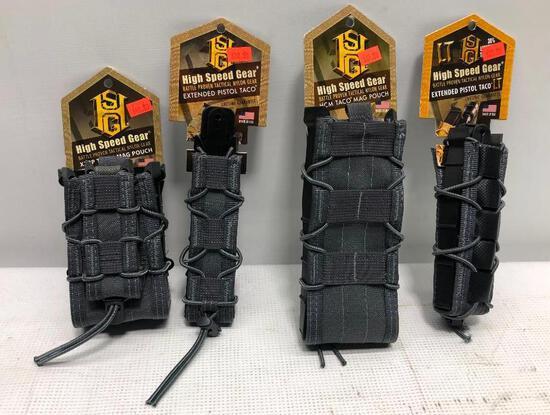 (4) HSG Magazine Pouches - X2RP Taco, HCM Taco, Extended Pistol Taco & LT