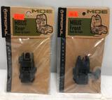 (2) Magpul MOE MBUS Front & Rear Back Up Sights