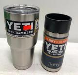 (2) YETI Ramblers - 30 oz Tumbler & 12 oz Bottle