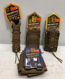 (4) HSG Magazine Pouches - Taco Mag, Double Decker Taco, Extended Pistol Taco LT & O3D Med Pouch