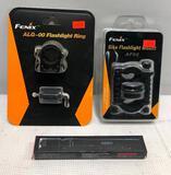 (3) - Fenix ALG-00 Flashlight Ring, Fenix AF02 Bike Mount & NEBO IP67 Inspector RC
