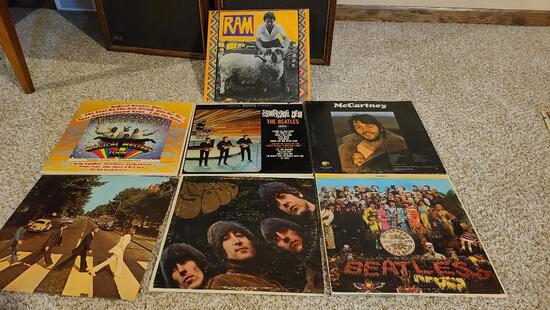 Group of 33rpm Records, See Pictures for Artists, All Beatles Records