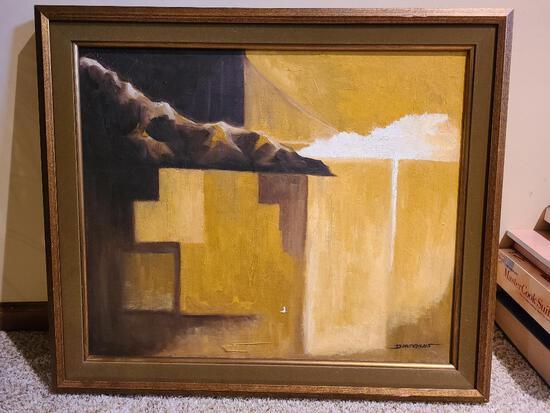 "D. Hutchens Oil Painting 24"" x 20"" - Frame 28"" x 24"""