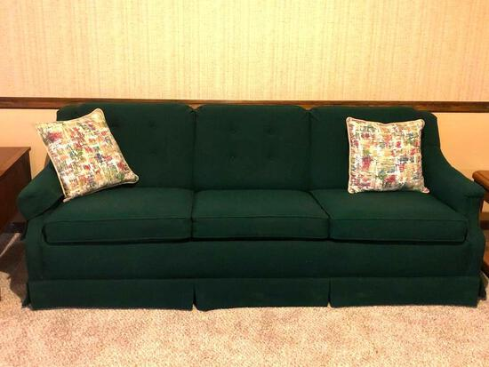 Couch, 3 Cushion, Padded, Good Condition, 76in