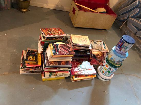 Cookbooks, Books and Tins