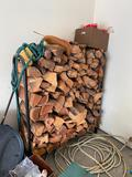 Firewood Log Rack w/ Firewood, Firewood has been in rack for long time, approx. 15-20 years