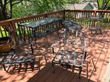 Patio Table w/ Chairs, Patio Furniture, Cushions