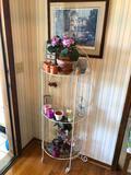 Round Shelf w/ Glass Shelves, Home Decorations, Framed Print