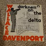 Signed LP Record, Darkness on the Delta Signed by Wallace Davenport, Fat Cats Jazz VG Condition