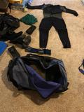 Scuba Diving Gears - BCD, Size 10 Shoes, Size Large Fins, XL Suit, 2 Regulators, Weights, Mask &