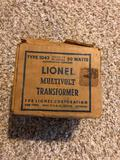 Near NOS Lionel Multivolt Transformer Type 1043 w/ Original Box