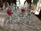 Group of Wine Glasses & Holiday Stemware