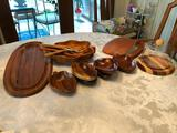 Group of Wooden Tableware & Cheese Board