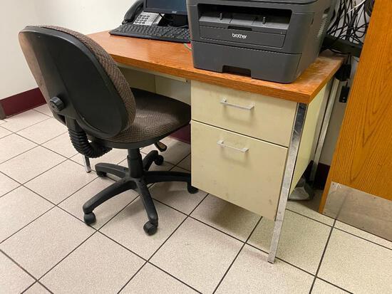 2 Desks, 1 Chair
