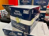 Full Case (1,000) Vinyl Gloves, Powder Free, Size XL by Value Gard, 10 Boxes of 100