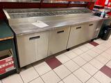 Randell 8000N Series Model: 8411N 4-Door Refrigerated Pizza Prep Table