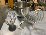 20 Quart Stand Mixer Bowl, Dough Hook, Beater / Paddle and Whisk / Whip
