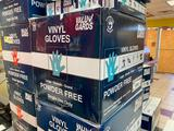 Full Case (1,000) Vinyl Gloves, Powder Free, Size L by Value Gard, 10 Boxes of 100