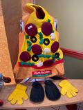 Pizza Person Mascot w/ Feet and Hands
