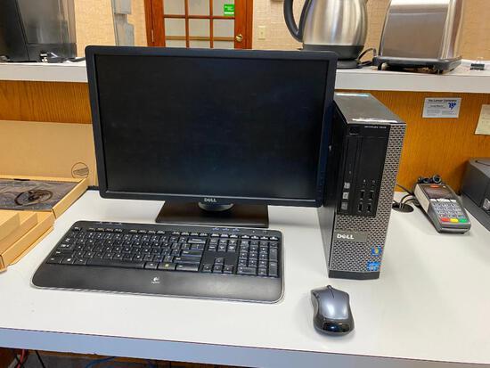 Dell D03S Optiplex 7010 Computer, Windows 7, Core i5, DVD/RW, Wireless Keyboard, Mouse & Flat Panel