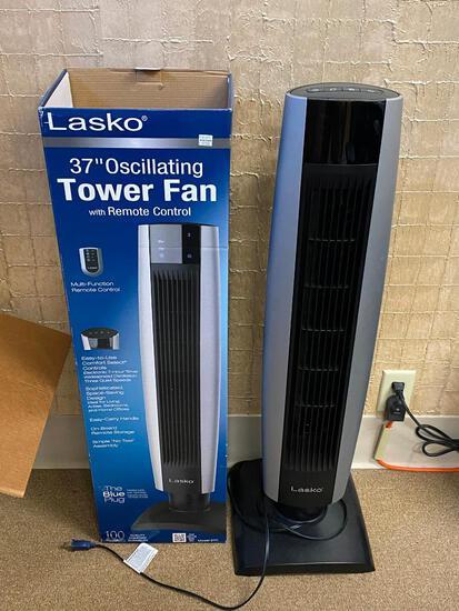 Lasko 37in Oscillating Tower Fan w/ Remote Control