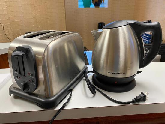 Hamilton Beach Model 40870 Heated Coffee Kettle & Professional Series 2-Slice Bagel/Toast Toaster
