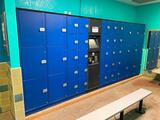 40 Unit Locker Storage Unit with Digital Merchant Touch Screen & Payment Acceptor