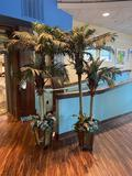 Two Artificial Palm Trees