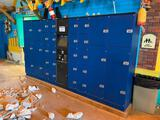 32 Unit Locker Storage Unit with Digital Merchant Touch Screen & Payment Acceptor