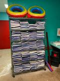Large Selection of 42in x 22in Towels & Metro Chrome Dunnage Shelving Unit & 2 Rafts