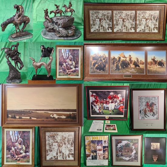 Bronze Sculptures, Camouflage Artists Art Auction