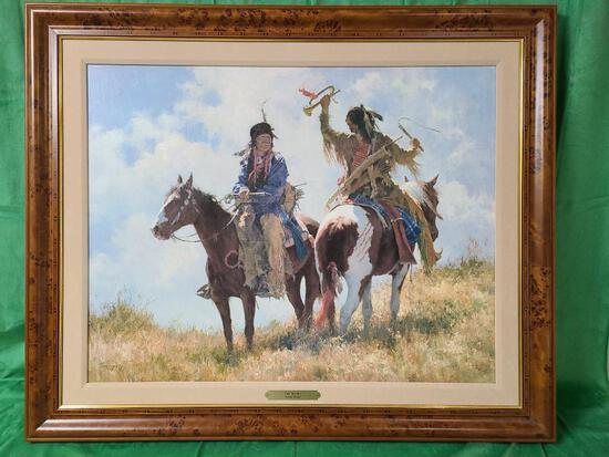 """""""The Trophy"""" by Howard Terpning Signed and Numbered 196/650 33"""" x 25 1/2"""""""