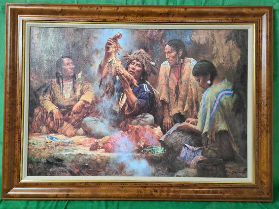 """""""Opening the Sacred Bundle"""" by Howard Terpning Signed and Numbered 166/550 33"""" x 22 3/8"""""""