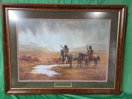"""""""Spirit of the Rainmaker"""" by Howard Terpning Signed and Numbered 594/1500 31 1/2"""" x 21 3/8"""""""